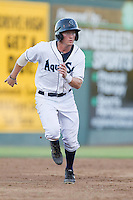 Nelson Ward #2 of the Everett AquaSox runs the bases during a game against the Tri-City Dust Devils at Everett Memorial Stadium in Everett, Washington on July 28, 2014. Tri-City defeated Everett 6-5 in 11 innings.  (Ronnie Allen/Four Seam Images)