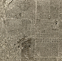 historical aerial photograph Ingelwood, Los Angeles county, California, 1963