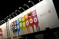 An advertising billboard of Ipod nanos in Guangzhou, Guangdong Province, China..
