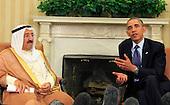 United States President Barack Obama meets with the Amir of Kuwait, His Highness SABAH al-Ahmad al-Jabir al-Sabah in the Oval Office on September 13, 2013.<br /> Credit: Dennis Brack / Pool via CNP
