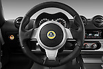 Steering wheel view of a 2009 Lotus Exige S 2 Door Coupe