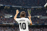 Luka Modric of Real Madrid during the match between Real Madrid v Atletico Madrid of LaLiga, date 7, 2018-2019 season. Santiago Bernabéu Stadium. Madrid, Spain - 29 SEP 2018.