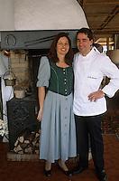 """Europe/Suisse/Saanenland/Schönried: Michel Von Siebenthal-Buck chef de """"L'Alpenrose"""" et son épouse"""