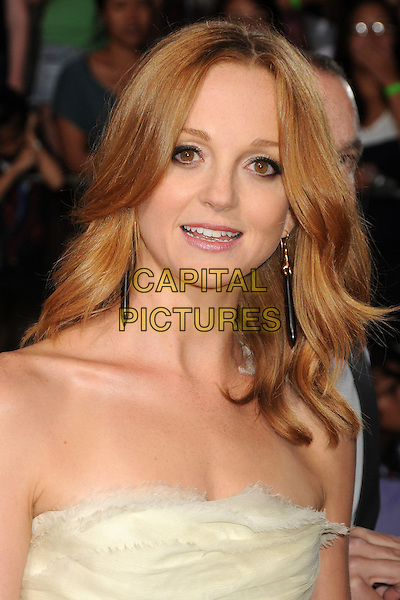 Jayma Mays.The 20th Century Fox 'Glee 3D' Concert World Movie Premiere held at The Regency Village theatre in Westwood, California, USA,.August 6th 2011..headshot portrait strapless white cream   .CAP/ADM/BP .©Byron Purvis/AdMedia/Capital Pictures.