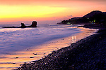 El Tunco, a popular beach on the Pacific Ocean in El Salvador, has great surf and is named after the rock formation in the water.
