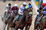 HOT SPRINGS, AR - APRIL 14:Arkansas Derby. Oaklawn Park on April 14, 2018 in Hot Springs,Arkansas. #8 Quip with jockey Florent Geroux (Photo by Ted McClenning/Eclipse Sportswire/Getty Images)