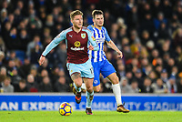 Jeff Hendrick of Burnley (13)  during the EPL - Premier League match between Brighton and Hove Albion and Burnley at the American Express Community Stadium, Brighton and Hove, England on 16 December 2017. Photo by Edward Thomas / PRiME Media Images.