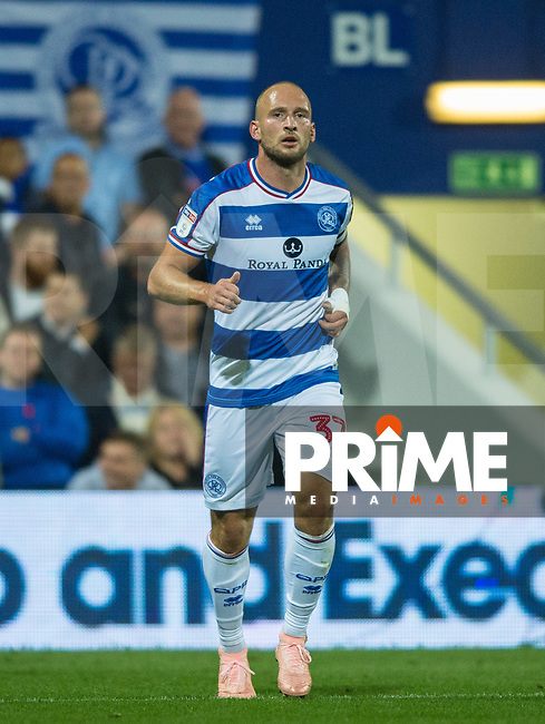 QPR Toni Leistner during the Sky Bet Championship match between Queens Park Rangers and Millwall at Loftus Road Stadium, London, England on 19 September 2018. Photo by Andrew Aleksiejczuk / PRiME Media Images.
