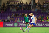 Orlando, FL - Saturday September 02, 2017: Megan Oyster during a regular season National Women's Soccer League (NWSL) match between the Orlando Pride and the Boston Breakers at Orlando City Stadium.