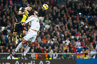 Raúl Albiol fights for Aerial ball