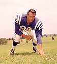 Baltimore Colt Gino Marchetti (89) portrait from his 1958 season with the Baltimore Colt. Gino Marchetti  played for 14 season, with 2 different teams, he was a 11-time Pro Bowler and was inducted into the Pro Football Hall of Fame in 1972.(SportPics)