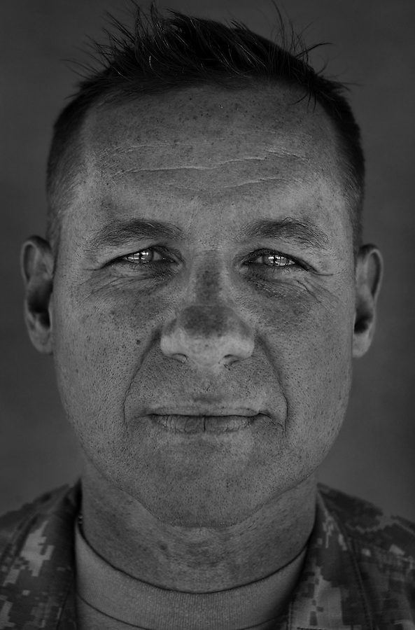 Colonel Stuart Pollock, 45. Gloucester, VA. Commander, 6th Iraqi Army Military Transition Team. Taken at Camp Liberty, Baghdad on Friday May 25, 2007.