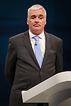 © Joel Goodman - 07973 332324 . No syndication permitted . 29/09/2013 . Manchester , UK . Charles Heslop , President of the National Conservative Convention , opens the conference . Day 1 of the Conservative Party Conference at Manchester Central . Photo credit : Joel Goodman