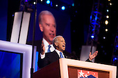 Denver, Colorado<br /> August 27, 2008<br /> <br /> Democratic Vice President nominee Joe Biden speaks at the Pepsi Center  - Democratic National Convention.