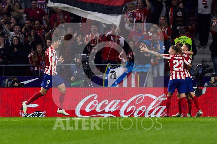 XXX of Atletico de Madrid and XXX of Athletic Club de Bilbao during the La Liga match between Atletico de Madrid and Athletic Club de Bilbao at Wanda Metropolitano Stadium in Madrid, Spain. October 26, 2019. (ALTERPHOTOS/A. Perez Meca)