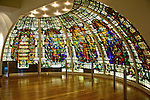 Recovered and restored stained glass from the old Baltic Exchange Building which was bombed by terrorists on 10 April 1992...The bomb killed three people and destroyed the building's structure. A new building (the gherkin) now occupies the space where the old Baltic Exchange used to stand...(c) Malcolm McCurrach | New Wave Images UK