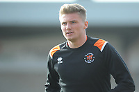 Blackpool's Taylor Moore during the pre-match warm-up <br /> <br /> Photographer Kevin Barnes/CameraSport<br /> <br /> The EFL Sky Bet League One - Fleetwood Town v Blackpool - Saturday 7th March 2020 - Highbury Stadium - Fleetwood<br /> <br /> World Copyright © 2020 CameraSport. All rights reserved. 43 Linden Ave. Countesthorpe. Leicester. England. LE8 5PG - Tel: +44 (0) 116 277 4147 - admin@camerasport.com - www.camerasport.com