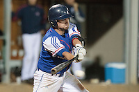 17 August 2010: Jorge Hereaud of Team France is seen at bat during the Czech Republic 4-3 win over France, at the 2010 European Championship, under 21, in Brno, Czech Republic.
