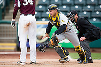 Parker Zimmerman #35 of the Wichita State Shockers chases a loose ball during a game against the Missouri State Bears at Hammons Field on May 5, 2013 in Springfield, Missouri. (David Welker/Four Seam Images)