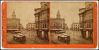 BNPS.co.uk (01202 558833)<br /> Pic: Bonhams/BNPS<br /> <br /> Montgomery Street from Market.<br /> <br /> A stunning collection of photos of San Francisco in the 1860s have been unearthed after 150 years.<br /> <br /> The fascinating images show the distinctive street scenes of the city 70 years before the iconic Golden Gate Bridge became its most celebrated landmark and 50 years before the infamous Alcatraz prison was built.<br /> <br /> Included in the collection of 247 images are photos of the Golden Gate, Alcatraz, Russian Hill, the Waterfront and Woodward's Gardens.<br /> <br /> The city which is universally known for its treacherously steep hills and spectacular scenery was captured in all its glory by American photographer Carleton E. Watkins.