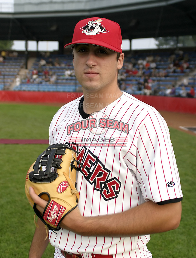 July 30, 2004:  Pitcher Stuart (Stu) Alexander of the Jamestown Jammers, Single-A NY-Penn League affiliate of the Florida Marlins, during a game at Russell Diethrick Park in Jamestown, NY.  Photo by:  Mike Janes/Four Seam Images