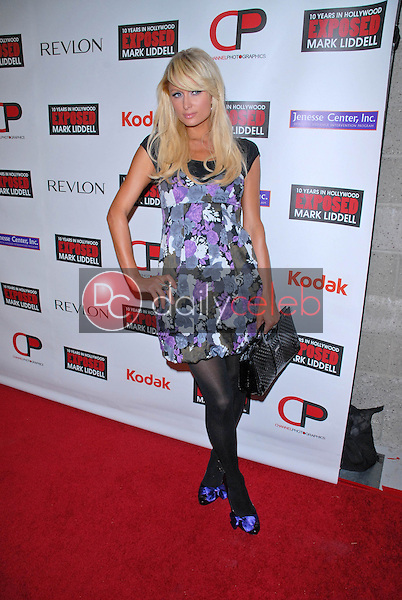 """Paris Hilton<br /> at the debut of Mark Liddell's """"Exposed: 10 Years In Hollywood,""""  Lloyd Wright's Sowden House, Los Angeles, CA. 11-09-09<br /> David Edwards/Dailyceleb.com 818-249-4998"""