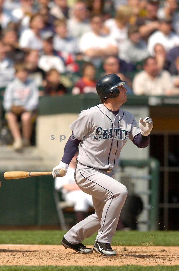 Jeremy Reed, of the Seattle Mariners, during their game against the Chicago White Sox in Chicago on May 5, 2006..White Sox win 4-1..Chris Bernacchi / SportPics