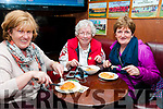 Listowel Food Fair: Sampling meat pies at Mike the Pies Bar, Listowel during the Listowel Food Trail event as part of Listowel Food fair on Saturday last were Aine Guerin, Mary Cogan Helen Moylan.