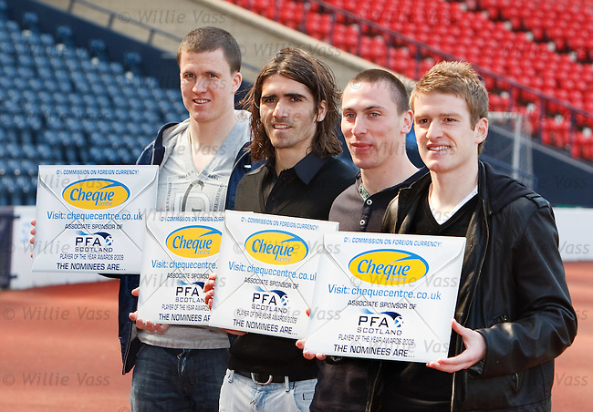 Gary Caldwell, Pedro Mendes, Scott Brown and Steven Davis promote PFA Scotland's search for player of the year
