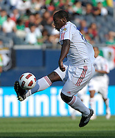 Cuba's Roberto Linares receives the ball.  El Salvador defeated Cuba 6-1 at the 2011 CONCACAF Gold Cup at Soldier Field in Chicago, IL on June 12, 2011.