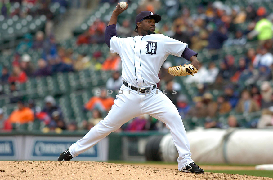 FERNANDO RODNEY, of the Detroit Tigers during their game against the Toronto Blue Jays, on April 4, 2007 in Detroit, Michigan...Tigers win 10-9....DAVID DUROCHIK / SPORTPICS