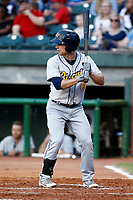 Brandon Lowe (6) of the Montgomery Biscuits waits for the pitch during the game against the Chattanooga Lookouts on May 26, 2018 at AT&T Field in Chattanooga, Tennessee. (Andy Mitchell/Four Seam Images)