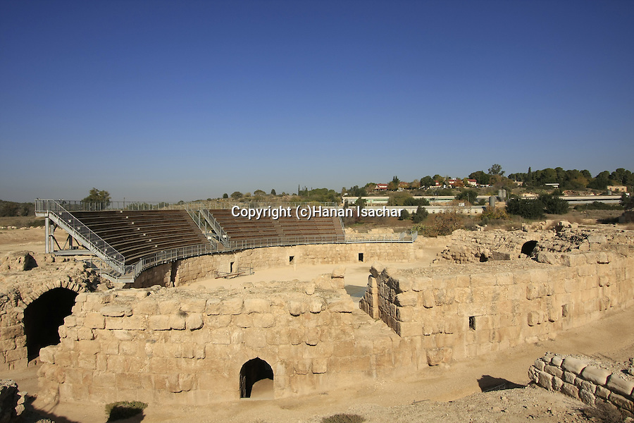 Israel, Shephelah, the Roman amphitheater in Beth Guvrin