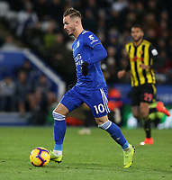 Leicester City's James Maddison <br /> <br /> Photographer Stephen White/CameraSport<br /> <br /> The Premier League - Leicester City v Watford - Saturday 1st December 2018 - King Power Stadium - Leicester<br /> <br /> World Copyright © 2018 CameraSport. All rights reserved. 43 Linden Ave. Countesthorpe. Leicester. England. LE8 5PG - Tel: +44 (0) 116 277 4147 - admin@camerasport.com - www.camerasport.com