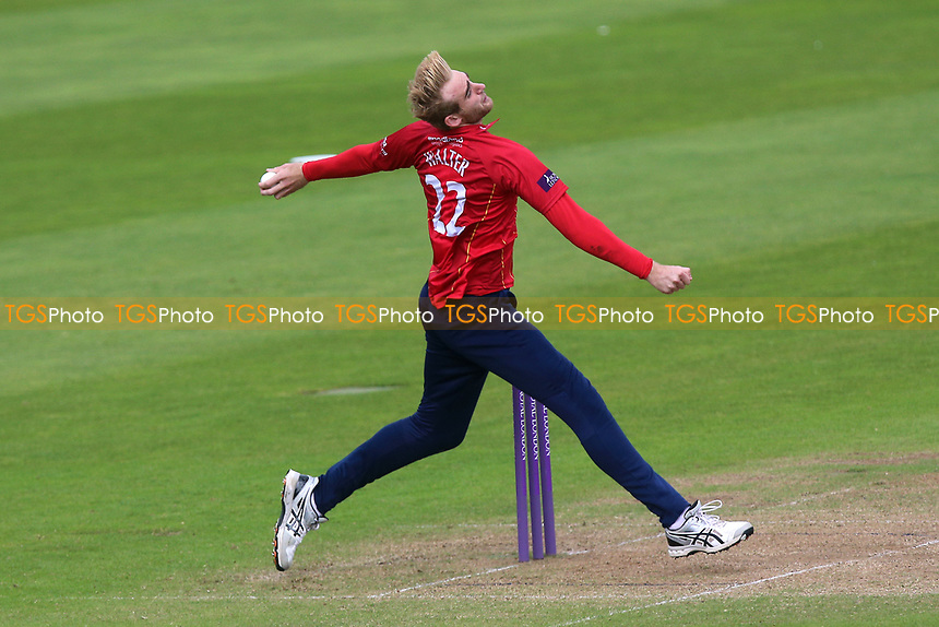 Paul Walter in bowling action for Essex during Somerset vs Essex Eagles, Royal London One-Day Cup Cricket at The Cooper Associates County Ground on 14th May 2017