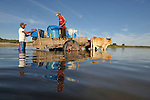 Residents obtain water for drinking and washing in a river at the edge of the village of Santa Paula in northwestern Nicaragua.