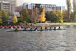 Rowing, Head of the Lake Regatta, November 8 2015, Seattle, Washington State, organized by the Lake Washington Rowing Club and the University of Washington, Lake Washington Ship Canal,