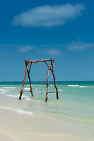 Swings in the sea, Bai Sao Beach, Phu Quoc, Vietnam