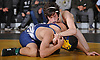 Ryan Arbeit of Wantagh, top, battles Julian Elmasry of Bethpage at 113 pounds during a Nassau County varsity wrestling match at Wantagh High School on Wednesday, Dec. 19, 2018. Arbeit won the match by pin.