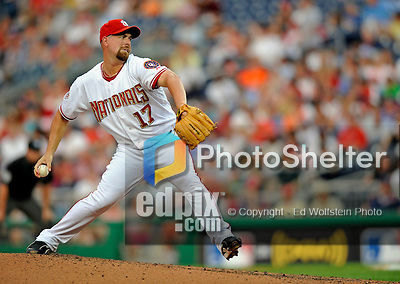 11 July 2008: Washington Nationals' starting pitcher Tim Redding on the mound against the Houston Astros at Nationals Park in Washington, DC. The Nationals shut out the Astros 10-0 in the first game of their 3-game series...Mandatory Photo Credit: Ed Wolfstein Photo