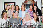 Rowena Mulvaney, Muckross celebrated her 50th birthday with her friends in the Porterhouse restaurant on Friday night front row l-r: Eileen Daly, Christine McCarthy, Rowena Mulvaney, Wiebhe McGuire, back: Kay O'Leary, Karen Healy, Ester Brosnan, Josie Brosnan, Meg mcCarthy, Denise O'Brien
