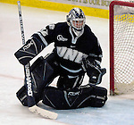 6 January 2007: University of New Hampshire goaltender Kevin Regan (32) from South Boston, MA, in action against the University of Vermont Catamounts at Gutterson Fieldhouse in Burlington, Vermont. The UNH Wildcats defeated Vermont 2-1 to sweep the two-game weekend series in front of a record setting 49th consecutive sellout at the Gut...Mandatory Photo Credit: Ed Wolfstein Photo.<br />