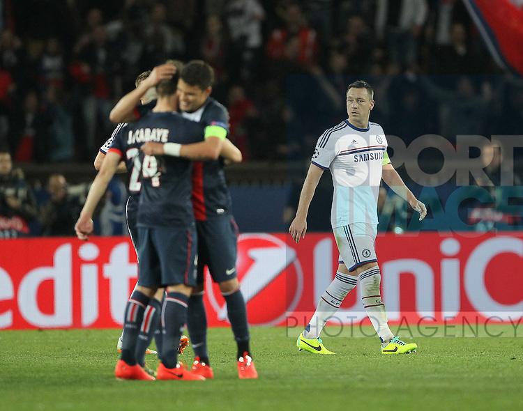 Chelsea's John Terry looks on dejected at the final whistle<br /> <br /> Paris Saint Germain vs Chelsea - Champions League - Parc Des Princes- Paris - France - 02/03/2014  - Pic David Klein/Sportimage