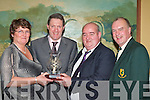 Noreen and Neilie Myers who were honoured by Firies GAA club for a lifetime of service at the club social in the Dromhall Hotel Killarney on Friday night l-r: Noreen Myers, Mike O'Leary (Firies GAA Chairman), Neilie Myers and Dermot Griffin (East Kerry Board Chairman)   Copyright Kerry's Eye 2008