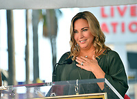 LOS ANGELES, CA. October 24, 2019: Jill Goodacre at the Hollywood Walk of Fame Star Ceremony honoring Harry Connick Jr.<br /> Pictures: Paul Smith/Featureflash