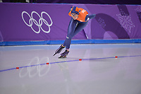 OLYMPIC GAMES: PYEONGCHANG: 16-02-2018, Gangneung Oval, Long Track, 5.000m Ladies, Annouk van der Weijden (NED), ©photo Martin de Jong