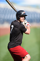***Temporary Unedited Reference File***Arkansas Travelers Cal Towey (7) during a game against the Tulsa Drillers on April 28, 2016 at ONEOK Field in Tulsa, Oklahoma.  Tulsa defeated Arkansas 5-4.  (Mike Janes/Four Seam Images)