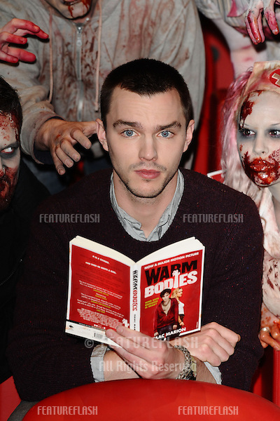 "Nicholas Hoult at the photocall for their new film ""Warm Bodies"" in the Soho Hotel, London. 18/01/2013 Steve Vas / Featureflash"