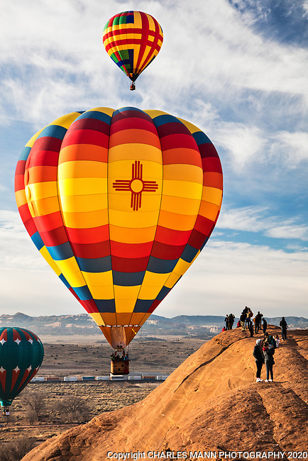 Held each year in early December, the Gallup Red Rock Balloon Rally is one of the largest hot air balloon events anywhere and takes place amid the colorful red sandstone canyons of  Red Rock State Park, just outside of Gallup, New Mexico.