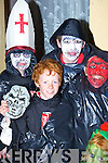 Cieran, Fergal O'Rourke, Eoin and Darragh O'Brien Tralee looking horrific at the Knocknagoshel Halloween festival on Sunday.     Copyright Kerry's Eye 2008